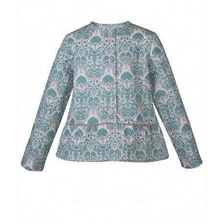 287bc060e9 Bluse mit orientalischem Muster in türkis und grau Ton - 4nenes ...