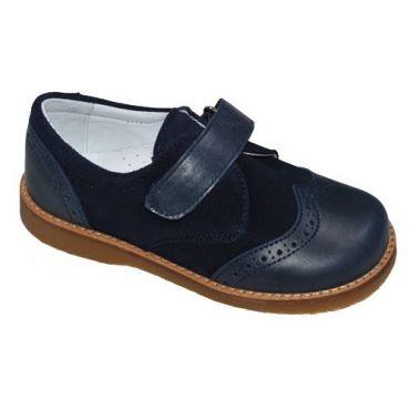 Oxford Schuhe mit Klettverschluss