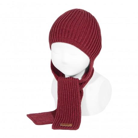 Mützen-Schal in rot