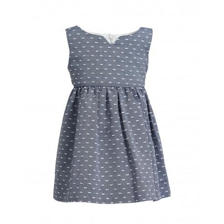 117a16ceb3 Plumetis-Kleid in Blau - 4nenes Kindermode Onlineshop