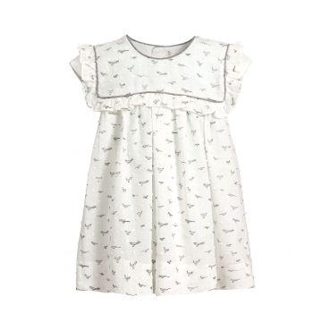 Baby-Kleid mit Vogelmuster