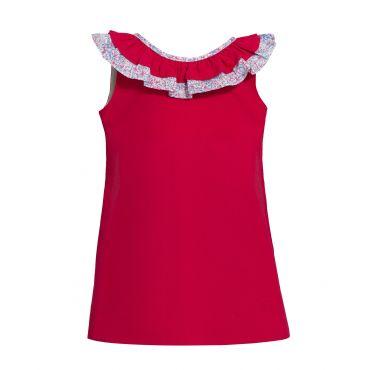 Rotes ärmelloses Kleid