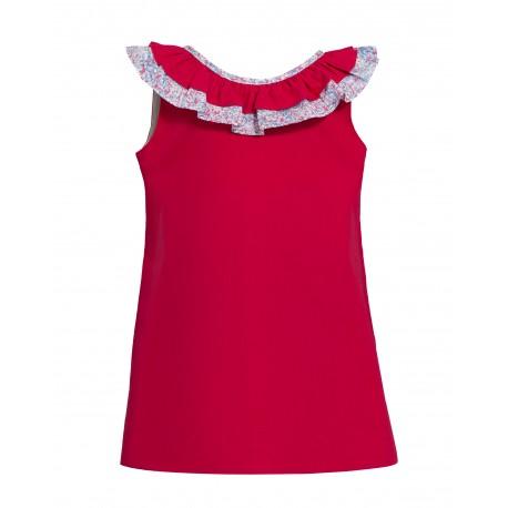 b9ebe946f1 Rotes Kleid mit Verzierung - 4nenes Kindermode Onlineshop