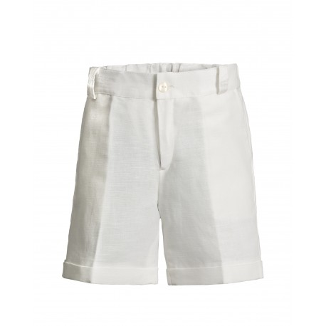 113034a0da Kurze weiße Leinenhose für Jungs - 4nenes Kindermode Onlineshop