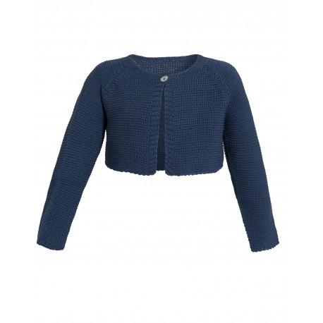 5cbbb88c63 Blaue Strickjacke für Mädchen - 4nenes Kindermode Onlineshop